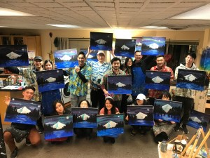 Private Event | The Loaded Brush Paint & Sip Classes | loadedbrushpdx.com