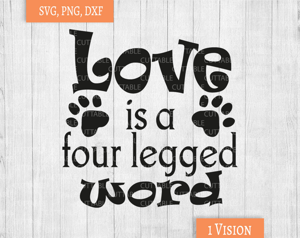Download Cat Lover SVG, love is a four legged word, cat quote SVG ...