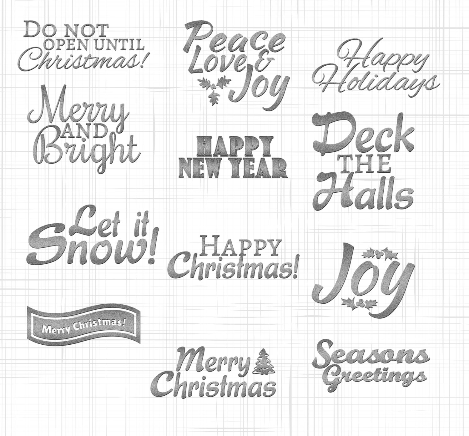 Christmas Overlays 12 Silver S Digital Download