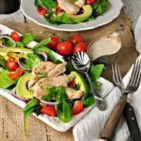 southwest chipotle chicken salad @loavesanddishes.net
