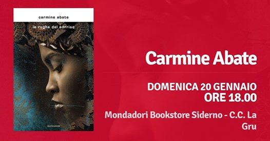 """Siderno: domenica 20 gennaio Carmine Abate presenta """"Le rughe del sorriso"""" al Mondadori Bookstore"""