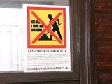 Zatvoreno gradilište - Gradjevinska inspekcija