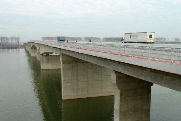 Izvršen test  opterećenja novog mosta preko Dunava - 2014