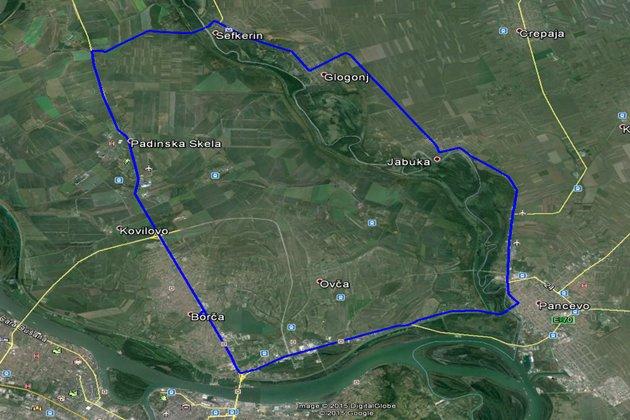 borca-pancevo-jabuka-glogonj-sefkerin-borca-mapa-2