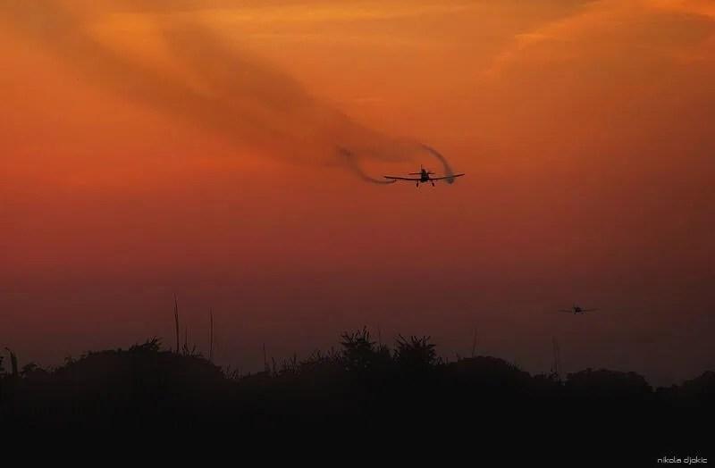 Zaprašivanje komaraca iz aviona - Borča - 02-03 avgust 2013