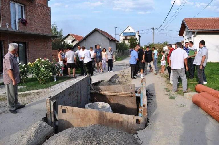 Nastavljena izgradnja kanalizacije u naselju Mali Zbeg - 04.09.2013
