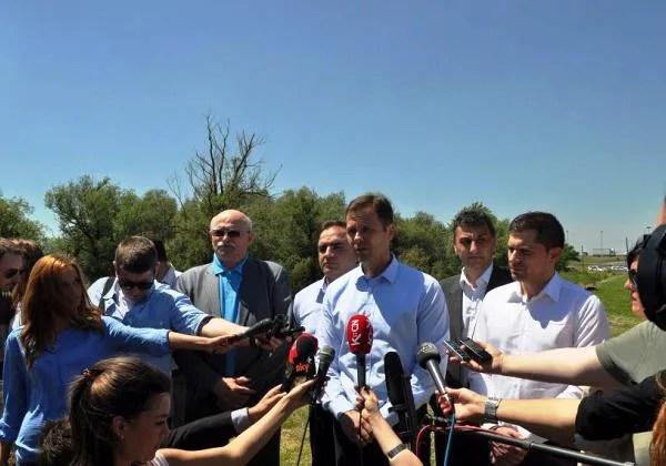 Gradonačelnik Beograda obišao nasipe na levoj obali Dunava