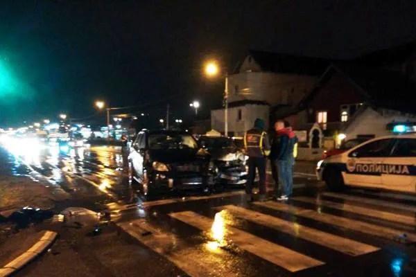 Stravičan udes večeras u Krnjači na Zrenjaninskom put 2015