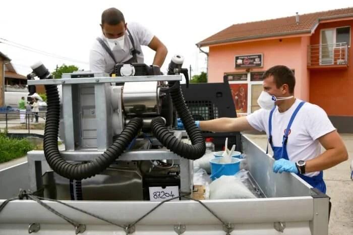 Zaprašivanje komaraca leva obala Beograda, LOBI