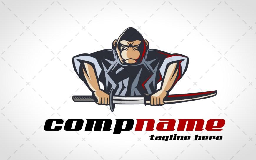 samurai gorilla mascot logo gorilla esports logo
