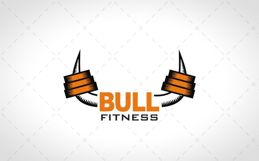strong bull fitness logo for sale