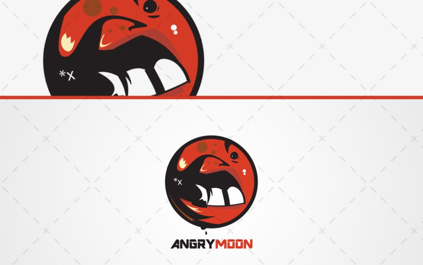 angry moon logo for sale