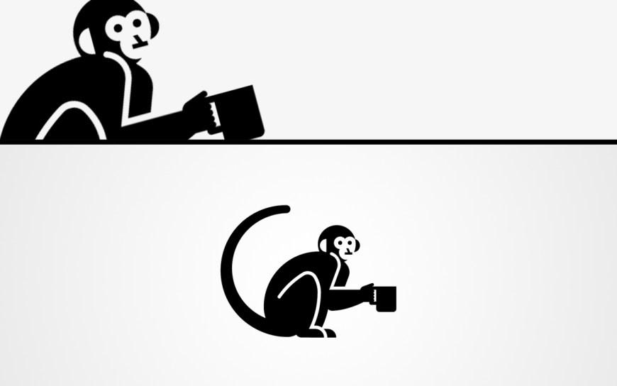 monkey coffee logo for sale