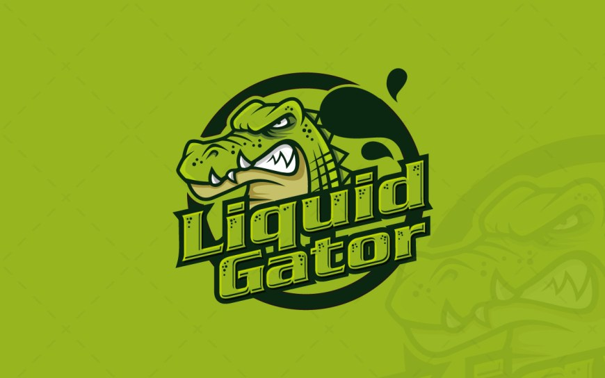 Gaming Logo | Awesome Gator Mascot Logo For Sale