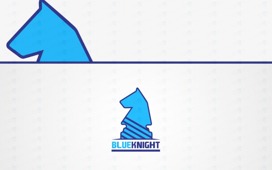 blue knight logo for sale