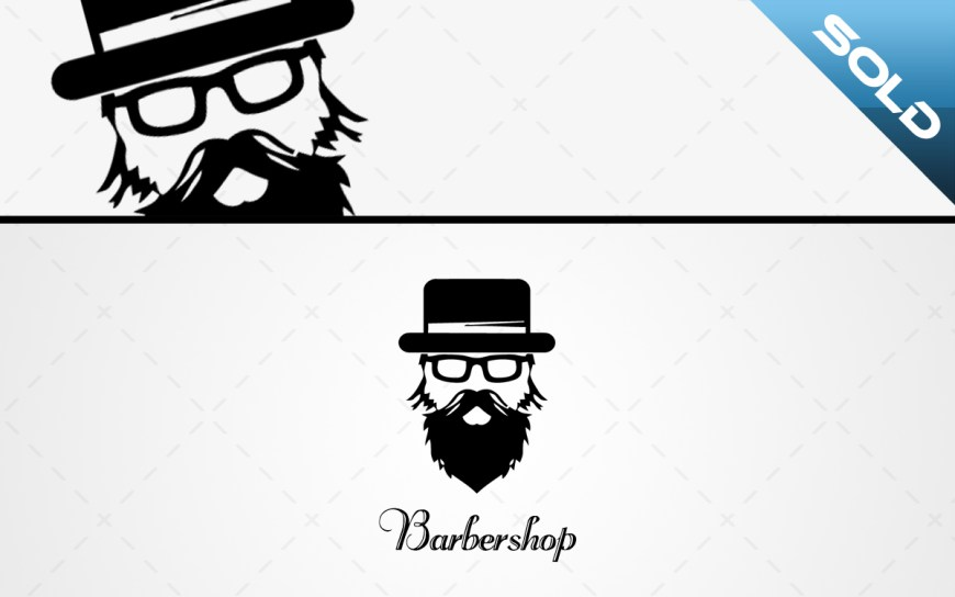 barbershop logo for sale