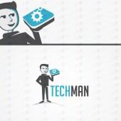 Modern & Trendy Tech Logo For Sale