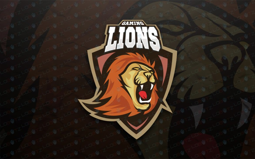 Gaming Logo | Premade Lion Mascot Logo For Sale