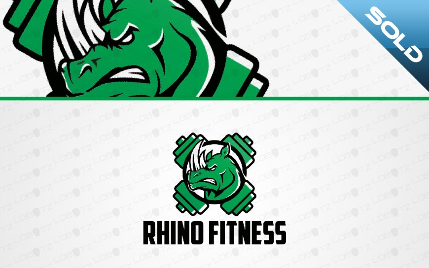 rhino fitness logo for sale