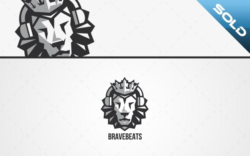 lion head logo headphones