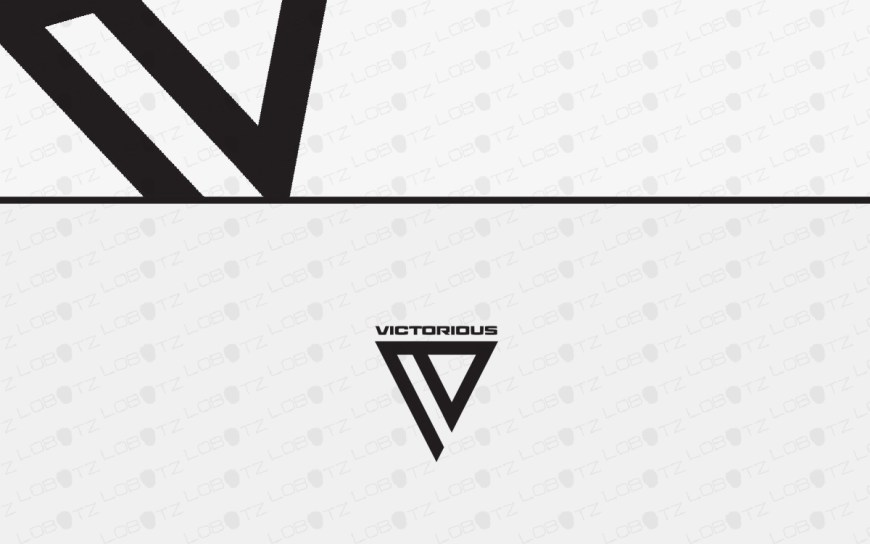 letter v business logo for sale
