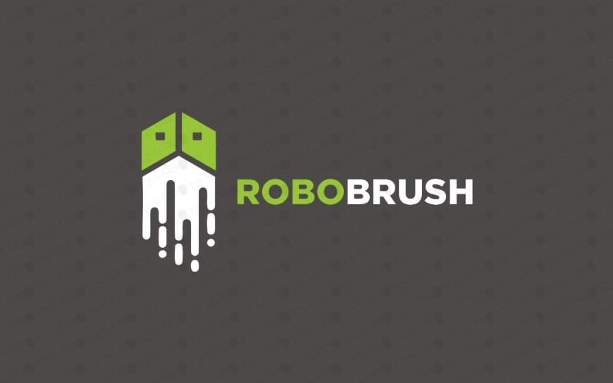 creative robot brush logo