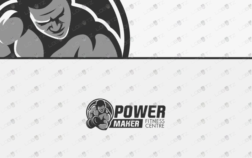 gym logo for sale bodybuilding logo fitness logo