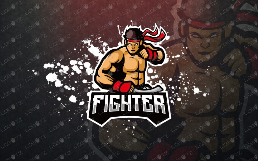 premade fighter esports logo fighter mascot logo