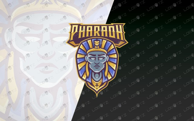 pharaoh mascot logo pharaoh esports logo
