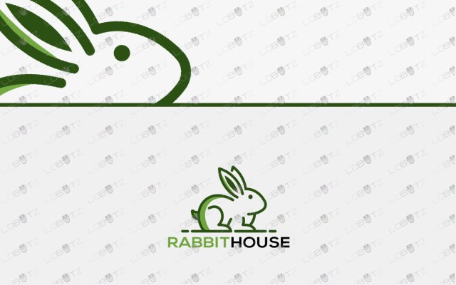 rabbit logo for sale premade rabbit logo online
