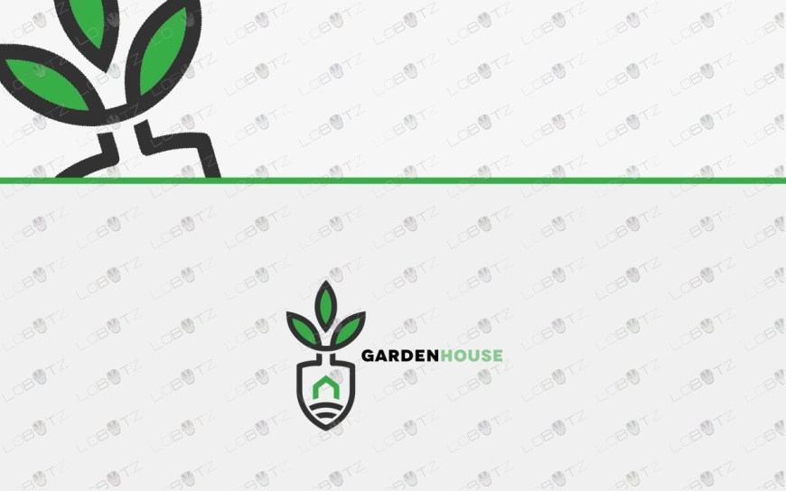 Premade Shovel Logo| Gardening Logo For Sale