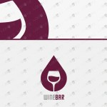 Wine Logo For Sale   Modern Wine Bar Logo