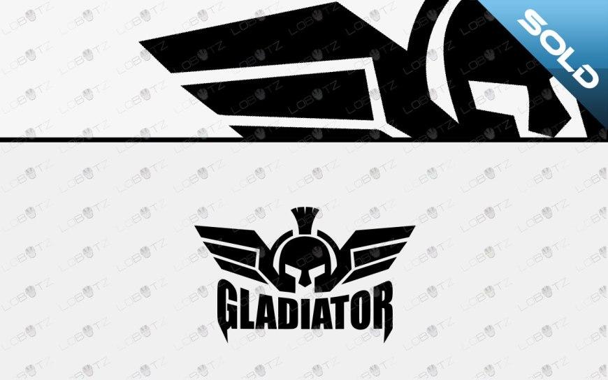 gladiator head logo spartan head logo