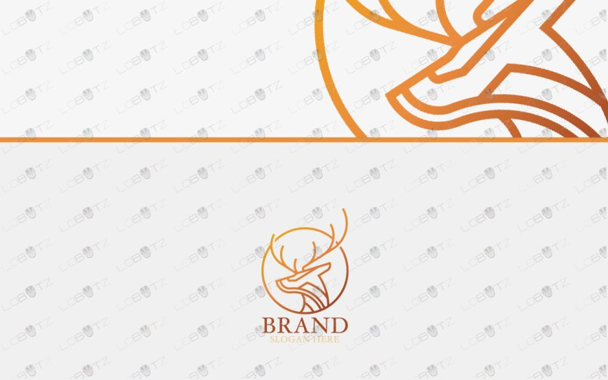 premade deer logo for sale readymade logo