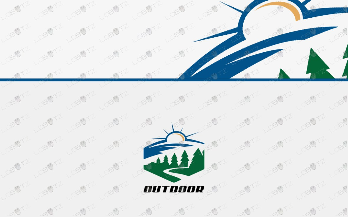 adventure outdoor logo for sale premade business logo