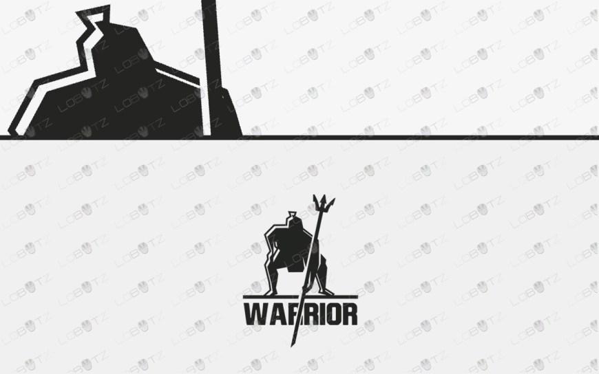 premade spartan warrior Logo for sale