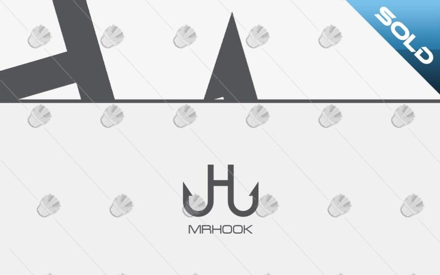 letter h logo hook logo logo for business
