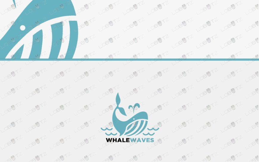 whale logo for sale premade whale logo waves logo