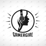 Girl Gamer Logo For Sale Premade Gamer Girl Logo