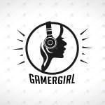 Girl Gamer Logo For Sale Premade Gamer Girl Logo