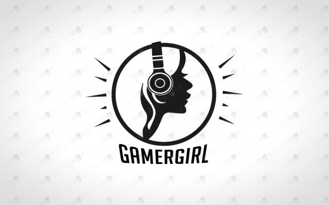girl gamer logo gamer girl logo for sale