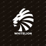 White Lion Logo | Brave Lion Logo For Sale