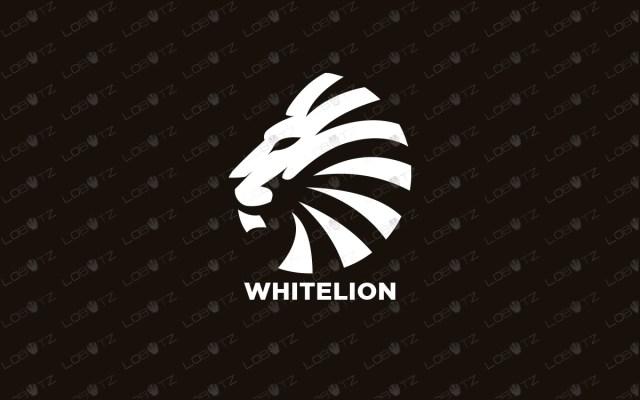 white lion logo for sale premade logos premium logo