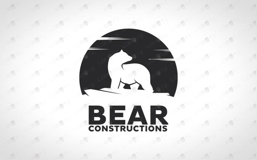 Bear logo for sale polar bear logo