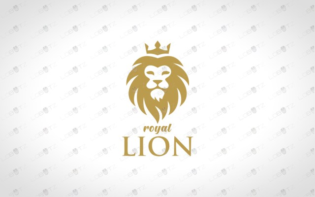 lion head logo for sale for business