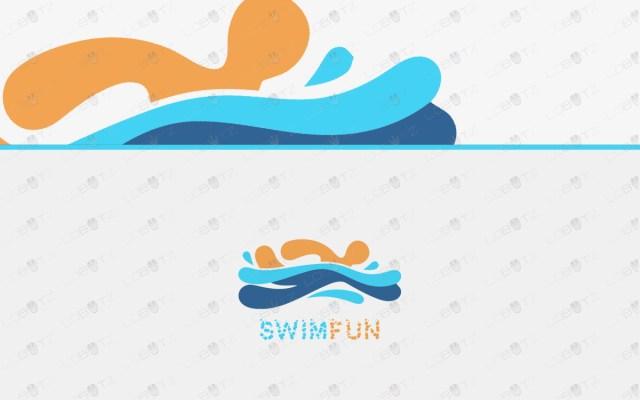swimming logo for sale water logo premade logos