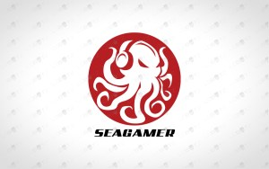 gamer octopus gaming logo octopus logo gamer logo