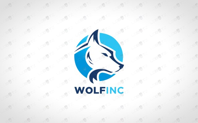 wolflogo for sale premade logos