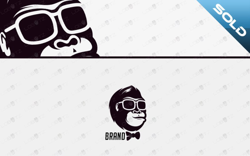 monkey logo for sale stylish ape logo