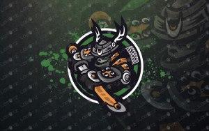 panda assassin mascot logo premade assassin esports logo